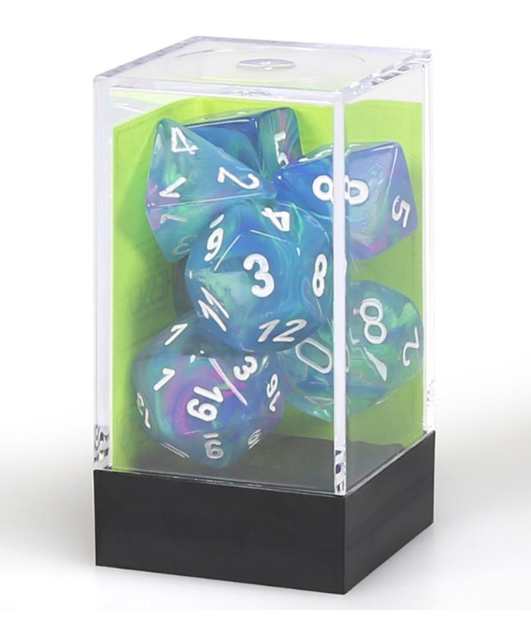 Chessex - CHX Chessex - Polyhedral 7-Die Set - Festive - Waterlily w/ White