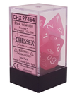 Chessex - CHX Chessex - Polyhedral 7-Die Set - Frosted Pink w/ White