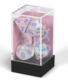 Chessex - CHX Polyhedral 7-Die Set - Festive - Pop-Art w/ Blue