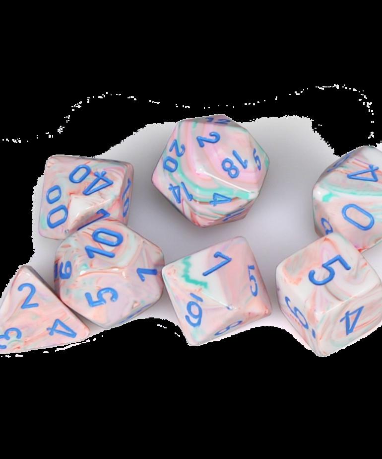 Chessex - CHX CLEARANCE - Chessex - Polyhedral 7-Die Set - Festive - Pop-Art w/ Blue