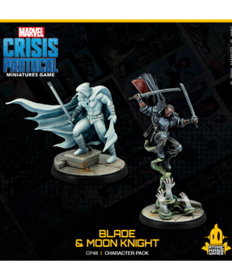 Atomic Mass Games - AMG PRESALE Marvel: Crisis Protocol - Blade & Moon Knight - Character Pack 12/00/2021