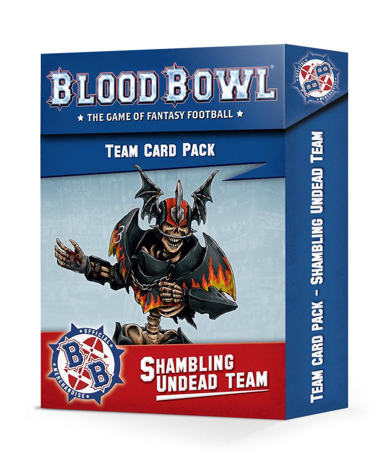 Games Workshop - GAW Blood Bowl - The Shambling Undead - Team Card Pack NO REBATE