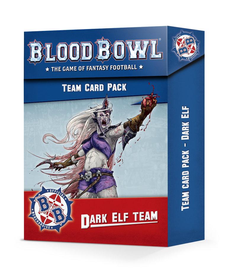 Games Workshop - GAW Blood Bowl - Dark Elf Team Card Pack NO REBATE