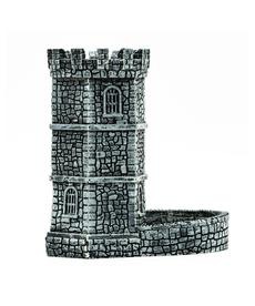 Udixi Dice - UDI Dice Tower - Retro Style Wall - Grey