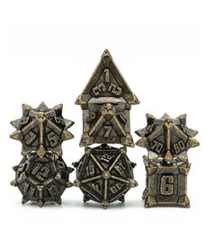 Udixi Dice - UDI Pinwheel Metal Dice - Vintage Bronze