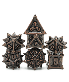 Udixi Dice - UDI Pinwheel Metal Dice - Vintage Copper