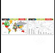 Melissa & Doug Melissa & Doug Write-a-Mat Countries of the World Placemat