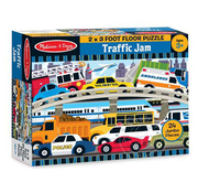 Melissa & Doug Melissa & Doug Traffic Jam Floor Puzzle 24pcs