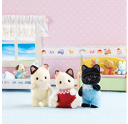 Calico Critters Calico Critters Tuxedo Cat Triplets RETIRED
