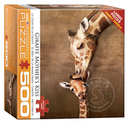 Eurographics Eurographics Giraffe Mother's Kiss Large Pieces Family Puzzle 500pcs