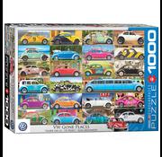 Eurographics Eurographics VW Beetle Gone Places Puzzle 1000pcs