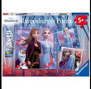 Ravensburger Ravensburger Frozen II The Journey Starts Puzzle 3 x 49pcs