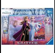 Ravensburger Ravensburger Frozen II Strong Sisters Glitter Puzzle 100pcs XXL