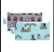 Bumkins Reusable Snack Bag Small 2 pack Nintendo Super Mario 8-Bit