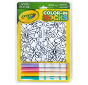 Crayola Color-In Socks Butterfly Flurry