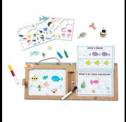 Melissa & Doug Melissa & Doug Play, Draw, Create Reusable Drawing & Magnet Kit - Ocean