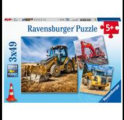 Ravensburger Ravensburger Digger at Work Puzzle 3 x 49pcs
