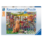 Ravensburger Ravensburger Cute Dogs in the Garden Puzzle 500pcs