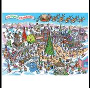 Cobble Hill Puzzles Cobble Hill Doodletown 12 Days of Christmas Puzzle 1000pcs