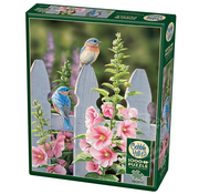 Cobble Hill Puzzles Cobble Hill Bluebirds and Hollyhocks Puzzle 1000pcs