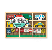 Melissa & Doug Melissa & Doug Wooden Vehicles & Traffic Signs