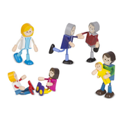 Melissa & Doug Melissa & Doug Wooden Flexible Figures - Family
