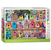 Eurographics Eurographics Home Tweet Home Bird Houses Puzzle 1000pcs