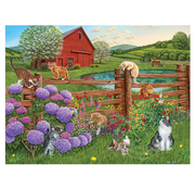 Cobble Hill Puzzles Cobble Hill Farm Cats Easy Handling Puzzle 275pcs
