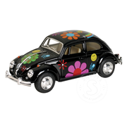 Toysmith Pull Back Flower Power Classic VW Beetle