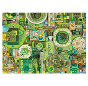 Cobble Hill Puzzles Cobble Hill Rainbow Collection Green Puzzle 1000pcs