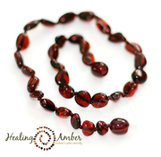"Healing Amber Healing Amber 15"" Necklace Oval"