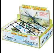 Toysmith Pull Back Sonic Gunship Helicopter