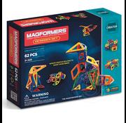 Magformers Magformers Designer Magnetic Building Set 62pcs