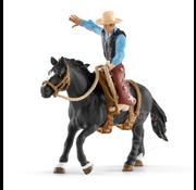 Schleich Schleich Saddle Bronc Riding with Cowboy SNA EXCLUSIVE
