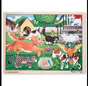 Melissa & Doug Melissa & Doug Pets Wooden Tray Puzzle 24pcs