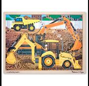Melissa & Doug Melissa & Doug Construction Site Wooden Tray Puzzle 24pcs