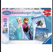 Ravensburger Ravensburger Frozen Winter Adventures Puzzle 3 x 49pcs