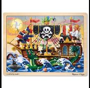 Melissa & Doug Melissa & Doug Pirate Adventure Wooden Tray Puzzle 48pcs