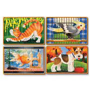 Melissa & Doug Melissa & Doug Pets Wooden Jigsaw Puzzles 4 - 12pcs in a Box