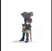 Schleich Schleich Foot Soldier with Stone RETIRED CLEARANCE