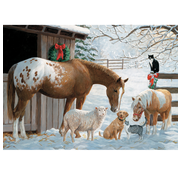 Cobble Hill Puzzles Cobble Hill Barnyard Greetings Tray Puzzle 35pcs