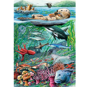Cobble Hill Puzzles Cobble Hill Life in the Pacific Ocean Tray Puzzle 35pcs