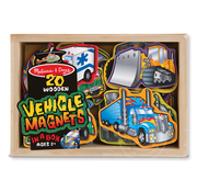 Melissa & Doug Melissa & Doug 20 Wooden Vehicle Magnets in a Box