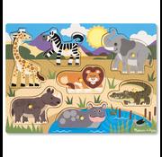 Melissa & Doug Melissa & Doug Safari Peg Puzzle