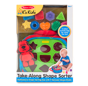 Melissa & Doug Melissa & Doug K's Kids Take-Along Shape Sorter