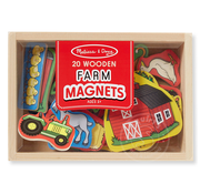 Melissa & Doug Melissa & Doug 20 Wooden Farm Magnets in a Box