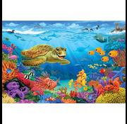 Cobble Hill Puzzles Cobble Hill Ocean Reef Floor Puzzle 36pcs