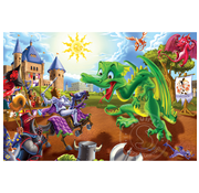 Cobble Hill Puzzles Cobble Hill Knights and Dragons Floor Puzzle 36pcs