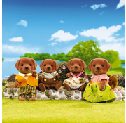 Calico Critters Calico Critters Chocolate Labrador Family