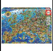 Educa Educa Crazy Map of Europe Puzzle 500pcs